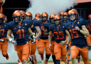 Syracuse, N.Y. -- Syracuse football's 2019 schedule is set. The ACC released the conference schedule Wednesday afternoon, bringing into focus the dates of the eight league games and order of opponents for the Orange in Dino Babers' fourth season. One quirky feature for this year's schedule is there will be two open weeks because the 2019 calendar has 14 weeks from the start of the season through the Saturday after Thanksgiving, when the regular season traditionally ends. Syracuse is coming off its first 10-win season in 17 years and finished the 2018 season No. 15 in the country.