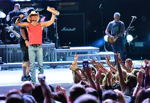 Crossover Country artist Kenny Chesney played to a near capacity crowd Thursday night.