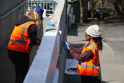 MAX stabbing mural: Artists begin transforming Hollywood Transit Center