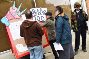 Protesters confronted by Pangaea Piercing owner after temporary closure of piercing parlor