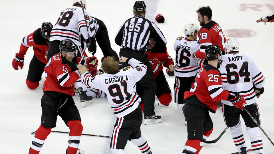 How Devils And Blackhawks' Offensive Outburst Turned Into Brawl: 6 Observations, Studs And Duds From 8-5 Win | Kyle Palmieri, Mackenzie Blackwood, More