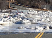 Bridge on Upper Church Street in Ware remains closed due to ice jams
