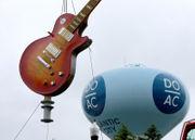 Hard Rock Hotel & Casino installs giant guitar at sign