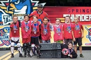The Springfield Thunderbirds held their first annual Street Hockey Tournament Saturday on Bruce Landon Way.