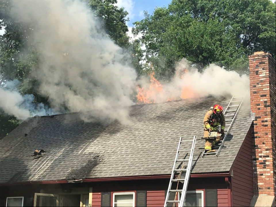 Firefighters battle 4-alarm blaze at house on Hannum Brook Drive in Easthampton