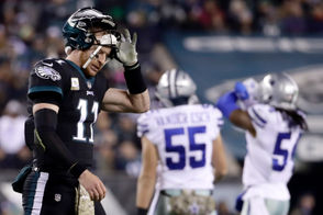 Though it has not resulted in winning football for the Eagles, quarterback Carson Wentz (11) has played terrific football in his last five games. Wentz has compiled a 115.2 passer rating in his last five games, tossing 12 touchdowns against just two interceptions. In those contests he is averaging 309 passing yard4s per game. Extrapolated out over a full 16-game season, that would give Wentz 4,944 yards, 38 touchdowns and six interceptions. That is MVP-level quarterback play. At least it would be if not for the fact that Philadelphia is just 2-3 in those games. While Wentz is playing at an elite statistical level, the rest of the team is not. Wentz missed the first two games of the season while recovering from the torn ACL and MCL he suffered last December. It took him a few games to find his stride, but he appears to have done that.