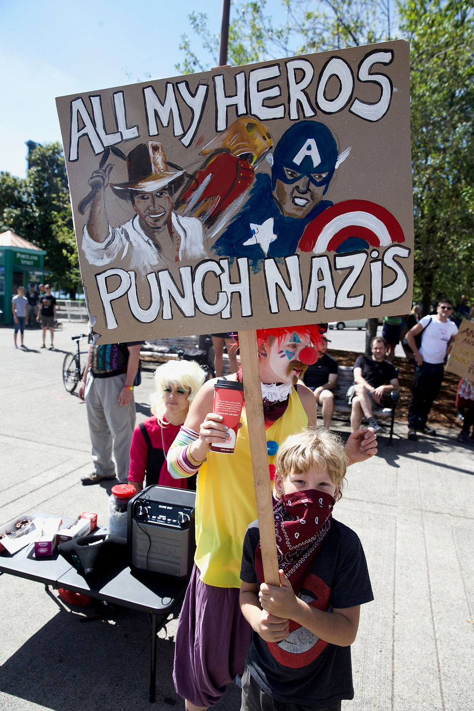 Another Freak Show in Oregon as Antifa Fascists Show Once Again Who the REAL Nazis Are!