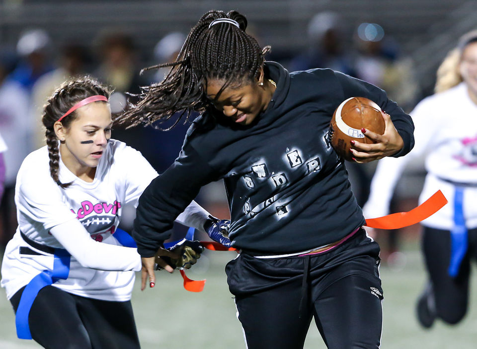 The annual Powderpuff football game at Bishop McDevitt High School was held on Thursday, October 18, 2018.