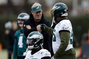 LOS ANGELES -- As the Eagles prepare for a Sunday night game at The Coliseum against the Rams, their path to the postseason just got a bit harder. The Vikings closed out a win against the Miami Dolphins and now head into Sunday night as the clear favorite to take the second wild card spot in the NFC. Now, the Eagles aren't completely hopeless. An upset win over the Rams would, obviously, help. If not, a lot has to happen. But it is still possible. As the season dwindles away in disappointment, the Eagles are hanging on by a thread. Before Sunday's games, according to FiveThirtyEight, the Eagles had a 17 percent chance of making the postseason. After the Vikings win, it dropped to 13 percent. A loss to the Rams would drop it to four percent. A loss and a Panthers win over the Saints on Monday ... one percent. Still ... you're saying there's a chance? Here's a closer look at the NFC playoff race, where the Eagles stand and how they stack up with their competition after this latest result.