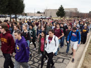 Mattawan students walk in silence to make statement about school shootings