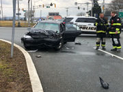 Car, firetruck collide at Rts. 22 and 519 in Greenwich Township (PHOTOS)
