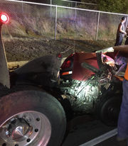 Overnight I-84 crash: 3 vehicles, 2 drunken driving suspects, 1 broken leg, police say