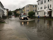 Flooding engulfs cars as Worcester officials warn drivers to avoid waterlogged streets