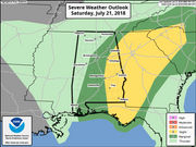 Severe storms continue across parts of Alabama
