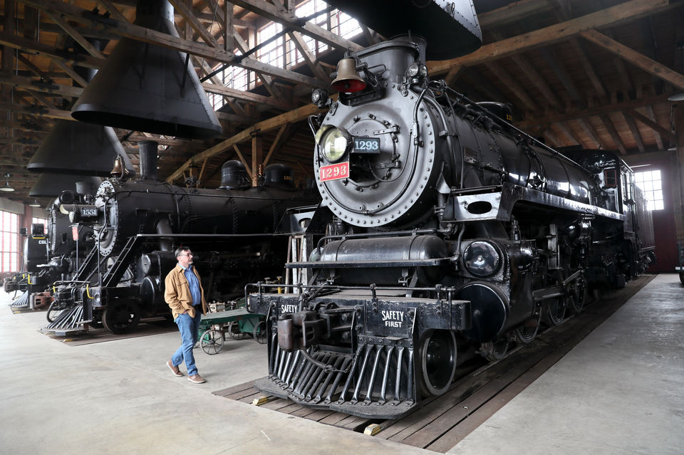 Sugarcreek's impressive Age of Steam Roundhouse, with dozens of historic locomotives, opens for tours