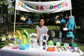 "Taylor Dickerson, 10, created Fairies & Robots after being challenged by her father. ""I love it"" she said.  (Alexandra Salmieri/Staten Island Advance)"
