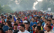 Migrant caravan swells to 5,000; Trump: 'They're not coming into this country'