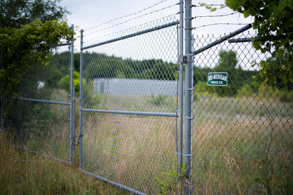 The former Production Plated Plastics site in Richland on July 14, 2018. Toxic PFAS contamination from the site has leaked into nearby residential drinking water wells.