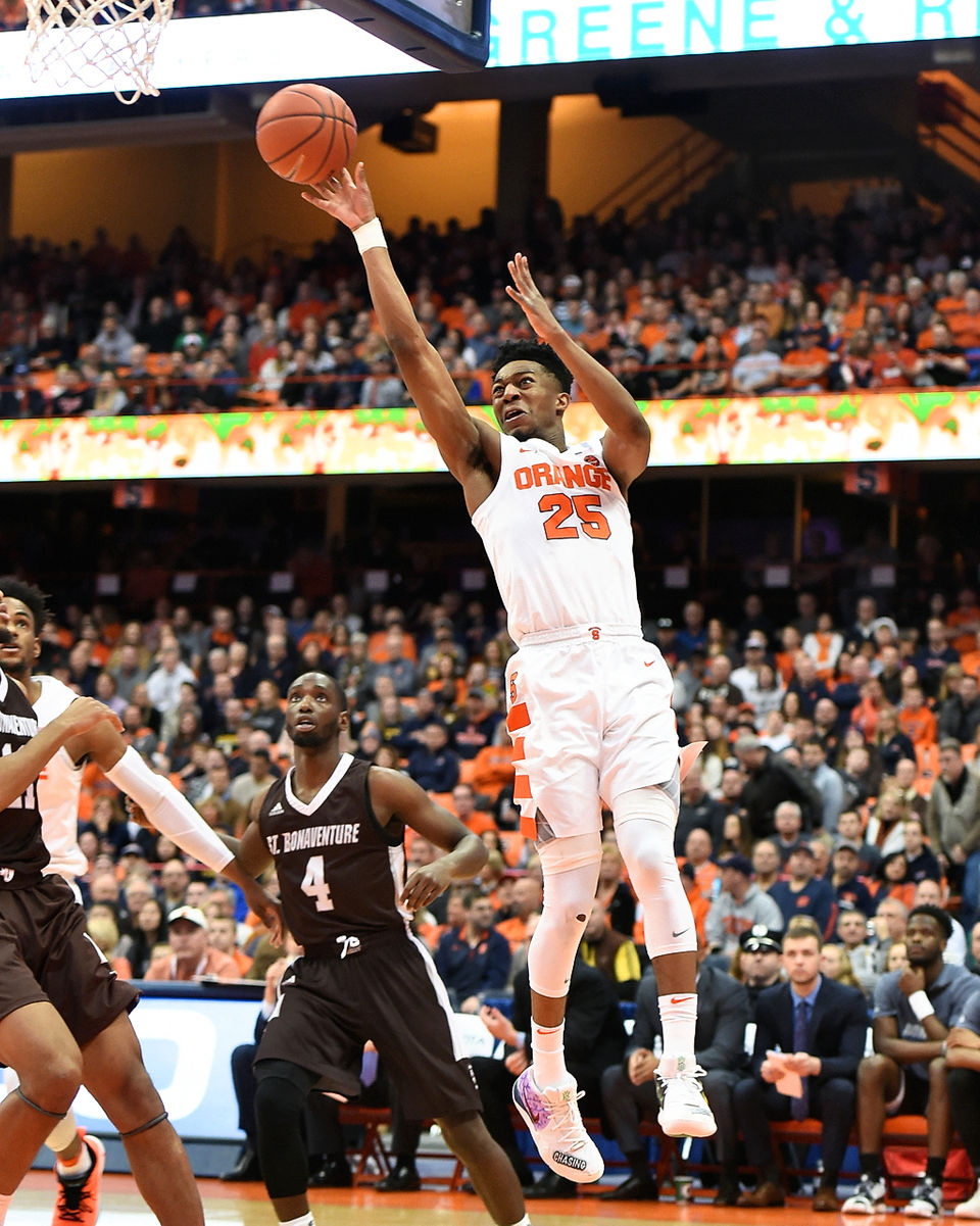 best and worst from syracuse basketball s win over st bonaventure