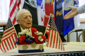 World War II veteran, Jack McClary, of Milan, Mich., celebrated his 100th birthday at VFW Post 423 in Ann Arbor.