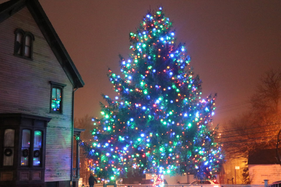 See the Christmas tree lighting in Historic Richmond Town