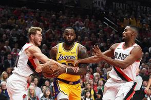 Photos from the Portland Trail Blazers 2018 NBA season opener vs. the Los Angeles Lakers.
