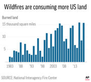 Fire, weather data: 'The warmer it is, the more fire we see'