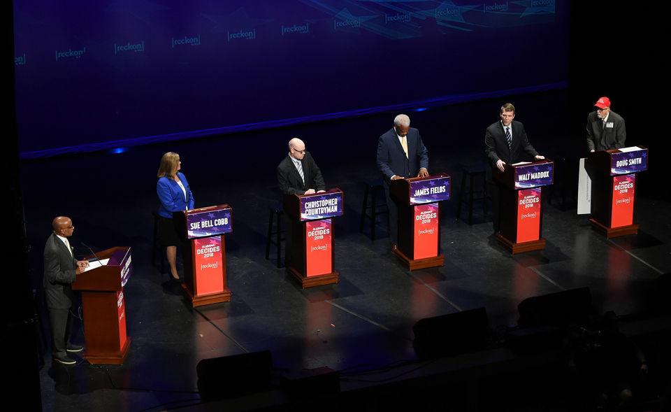The Alabama Democratic gubernatorial debate hosted by Reckon by AL.com and ABC 33/40 at the Lyric Theatre in Birmingham. (Joe Songer | jsonger@al.com).