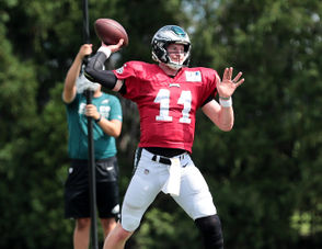 The Eagles practice for Sunday's game against the Colts, Sept. 19, 2018.