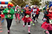 The soggy Syracuse Ugly Sweater 5K Run