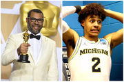 Jordan Peele poses as Michigan buzzer-beating hero Jordan Poole on Twitter