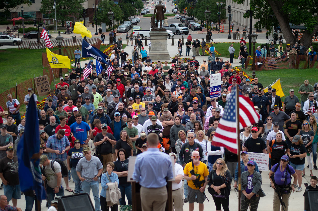 "<p>Hundreds of gun rights activists from across Michigan gathered at the Capitol on Wednesday to demonstrate their right to openly carry their guns and advocate for protecting the Second Amendment during the annual Second Amendment March. The annual rally has taken place for the past eight years.</p> <p><br></p> <p>""It's the amendment that protects all the other amendments,"" Dan Meadows of West Bloomfield said. ""It's the right that protects all other rights. Without arms, speech could fall and nothing could be done about it. Freedom of religion or freedom not to be religious could fall.""</p> <p><br></p> <p>Several Republican gubernatorial candidates showed up to voice their support of the Second Amendment to the crowd. Lt. Gov. Brian Calley, Attorney General Bill Schuette and Sen. Patrick Colbeck all spoke.</p> <p><br></p> <p>An <a href=""https://www.mlive.com/news/index.ssf/2018/02/michigan_gun_ownership_by_the_1.html"">estimated 30 percent of Americans</a> own a gun and in Michigan there were 621,327 active concealed pistol licenses on file as of Feb. 1, 2018.</p> <p><br></p> <p>For Walter Reynolds of Detroit owning a gun is about protecting his family and community. ""I served nine years in the military,"" he said. ""It's something the embedded in me and it's what I like to do.""</p>"
