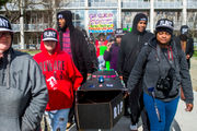 Flint residents demand clean water four years after switch to river