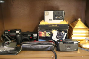 New Brighton estate sale had several vintage cameras for sale on October 19, 2018. (Alexandra Salmieri/Staten Island Advance)