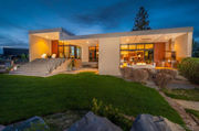 Modern Bend house has creek-like feature flowing under the dining room (photos)