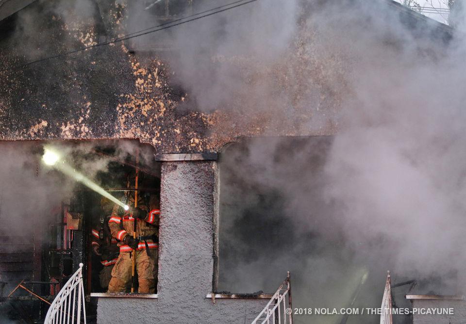 Fire in 3000 block of Calhoun