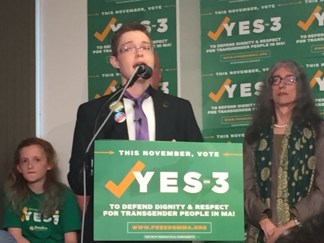 Question 3 passes: Reactions to Massachusetts preserving transgender rights