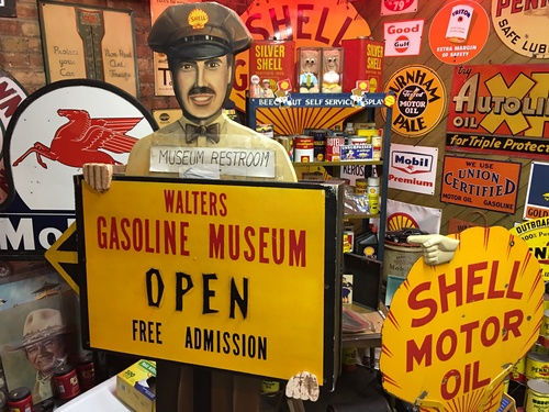 Walter's Gasoline Museum in Marshall, Michigan is full of gasoline artifacts and Marshall area memorabilia.