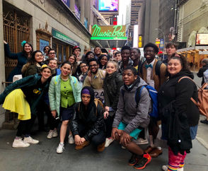 """STATEN ISLAND, N.Y. -- The Curtis High School Players made their Broadway debut last night to a sold-out crowd for the fifth annual Shubert Foundation High School Theatre Festival, held at the Music Box Theatre, currently home to """"Dear Evan Hansen,' the smash and critically-acclaimed Broadway musical.  The Curtis Players performed their own production of """"The 25th Annual Putnam County Spelling Bee,"""" under the debut direction of Laura Fries, a Curtis theater teacher.Musical director was Tina Kenny-Jones. Curtis High School principal is Gregory Jaenicke."""