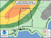 Severe weather expected in Alabama Monday into Tuesday