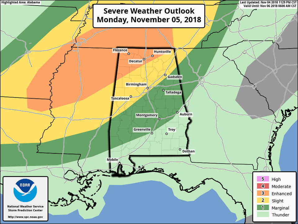 Heavy Weather Is Expected In Alabama Tonight Until Tuesday Newsbeezer