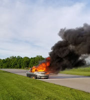 South Haven race car driver escapes fire: 'I'm just happy to be alive'
