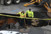 Work continues to repair Whitehall Township sinkhole