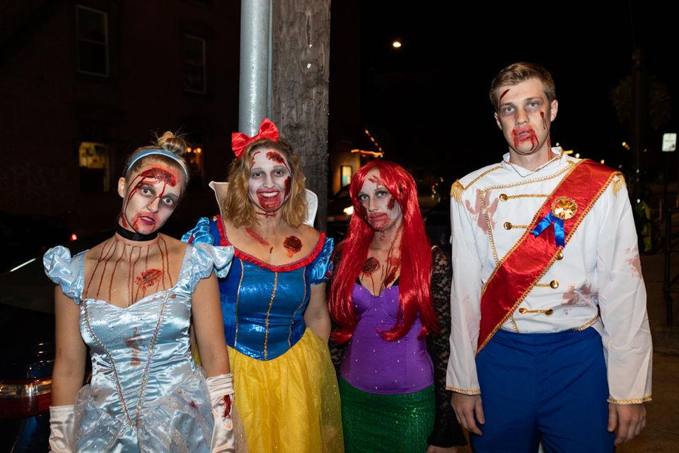 Hundreds turned downtown Northampton into a zombieland on Saturday night during 2018 Northampton Zombie Pub Crawl.