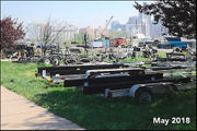 Clean up the debris at Liberty State Park marina