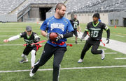 Football heats up at 13th annual Giants Snow Bowl to benefit Special Olympics New Jersey
