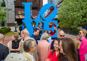 Iconic pop art 'LOVE' sculpture unveiled in downtown Grand Rapids