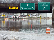Red Cross has six shelters open from Lansing to the west if you're flooded out