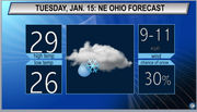 Cloudy with potential for freezing rain: Northeast Ohio Tuesday weather forecast