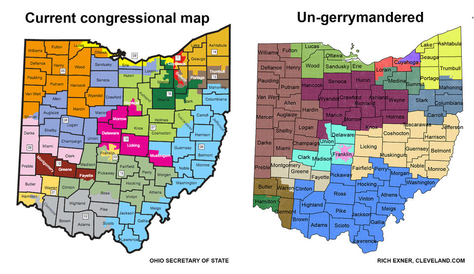 An Ohio congressional map that makes sense - un-gerrymandered ...